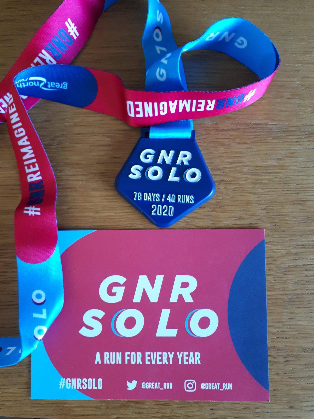 MY YEAR In Miles Running Medal//momento